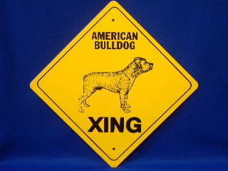 American Bulldog Crossing Sign