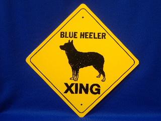 Australian Cattle Dog Blue Heeler Crossing Sign At Animal