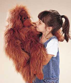 Orangutan Puppet Plush At Animal World