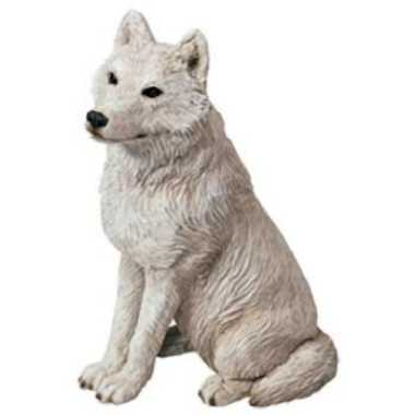 Arctic White Wolf Figurine Statue Midsize By Sandicast From Anwo Com