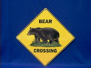 Bear Crossing Sign At Anwo Com Animal World