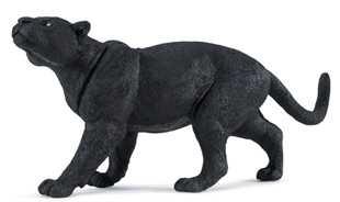Black Jaguar Panther Toy Large Miniature Replica Figurine Wildlife