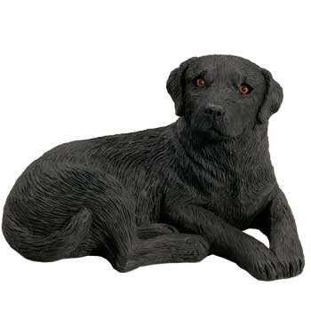Black Lab Figurine Sandicast Midsize Lying At Animal World