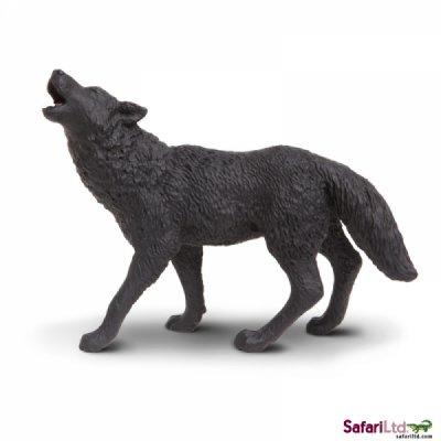 Black Wolf Toy Miniature Howling At Anwo Com Animal World