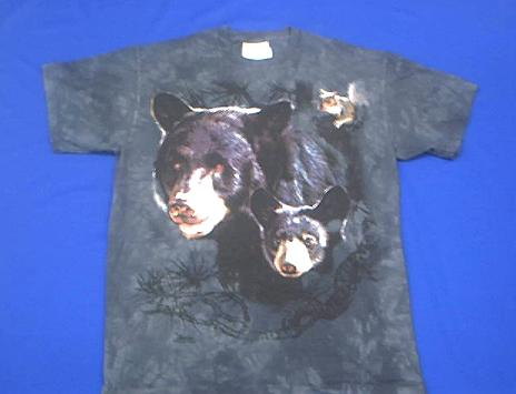 Bear T Shirt Black Bear Family Adult Xx Large At Anwo Com