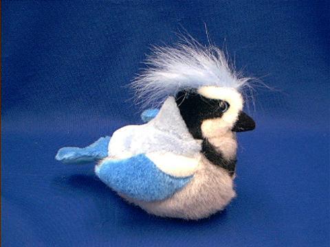 Blue Jay Bird Stuffed Animal Plush With Sound At Anwo Com