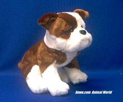 Bulldog Stuffed Animal Plush Sitting From Animal World