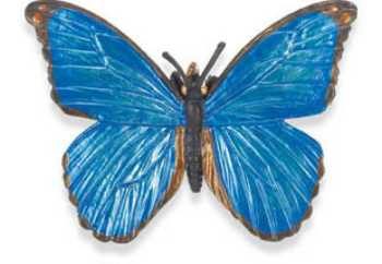 butterfly toy blue morpho