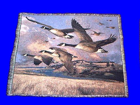 Canadian Geese Blanket Throw Tapestry At Animal World 174