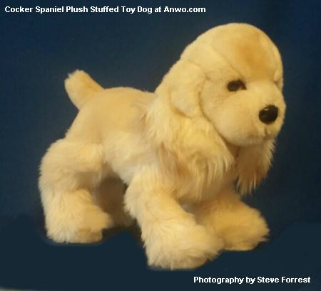 cocker spaniel plush stuffed animal toy dog