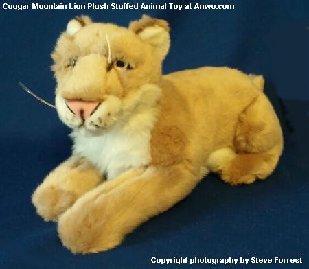 Cougar Mountain Lion Plush Stuffed Animal Toy At Animal