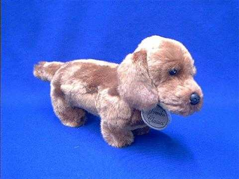 Red dachshund stuffed animal