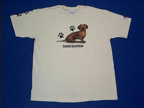 Red Dachshund T Shirt At Animal World 174