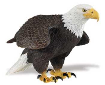 Bald eagle toy figurine large at animal world - Mighty eagle plush toy ...