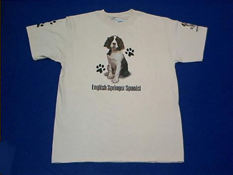 huge selection of 16538 f2dbe English Springer Spaniel T Shirt Adult XL