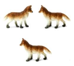 fox toy mini good luck miniature