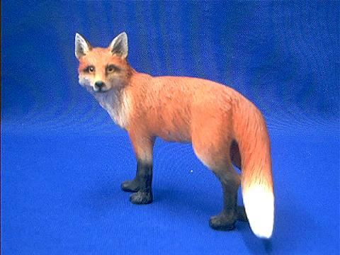 Red Fox Figurine Statue At Animal World 174