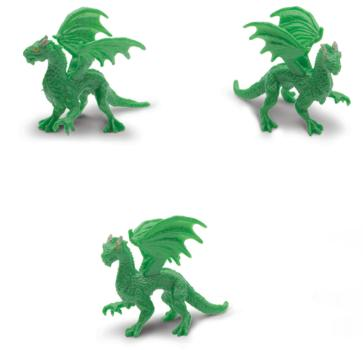 green forest dragon toy mini good luck miniature