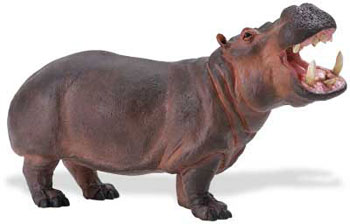 Hippo Toy Animal Large Hippopotamus Wildlife Wonders