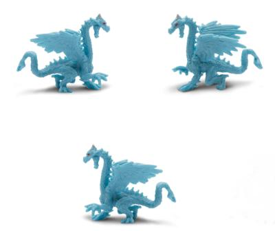 ice dragon toy mini good luck miniature replica