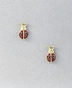 dcccc995e Ladybug Earrings Post Small Relief at Animal World®