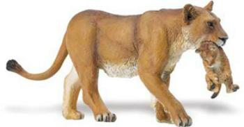 Lion Toy Animal Lioness With Cub Miniature At Animal World 174