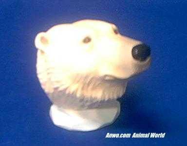 polar bear head figurine by westland at animal world