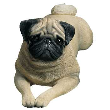 Pug Figurine Statue Lifesize Lying Pose Sandicast 174 At