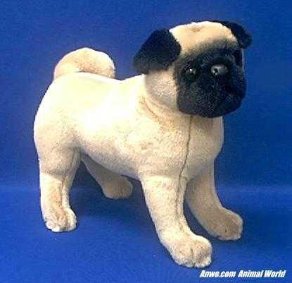 Pug Stuffed Animal Plush Rocky At Animal World