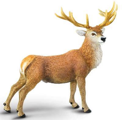 Red Deer Buck Toy Miniature Replica Anwo