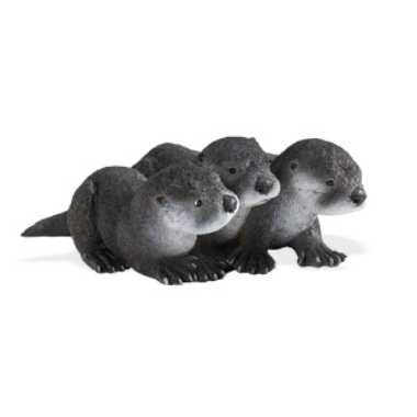 River Otter Babies Toy Miniature Replica at Anwo Animal World®