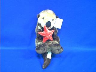 Sea Otter Stuffed Animal Plush With Starfish At Animal World