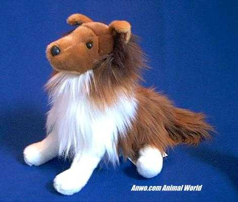 Sheltie Stuffed Animal Plush Whispy Shetland Sheepdog At Anwo Com
