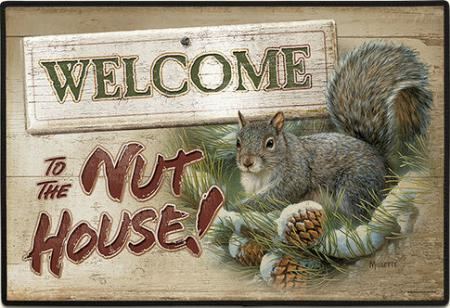 Squirrel Doormat Welcome To The Nuthouse Mat