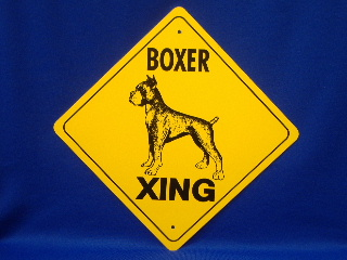 Boxer Cropped Ear Crossing Sign