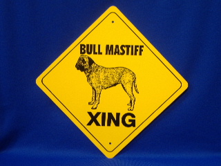 Bull Mastiff Crossing Sign