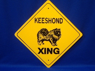 Keeshond Crossing Sign