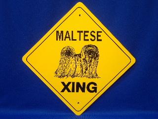 Maltese Crossing Sign
