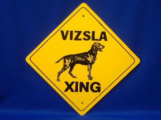 Vizsla Crossing Sign