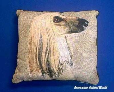 afghan dog pillow throw