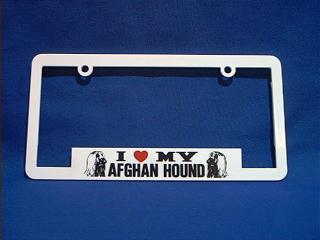 afghan hound license frame