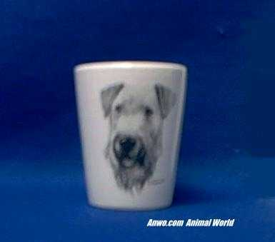 airedale shot glass porcelain