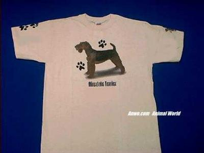 airedale terrier t shirt dog