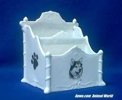 alaskan malamute letter organizer porcelain