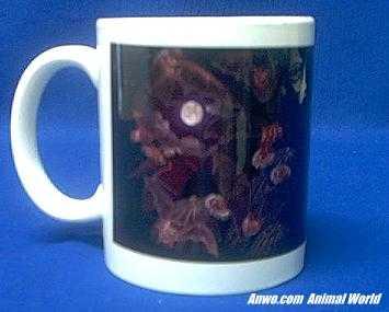 bats mug porcelain bat