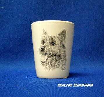 australian terrier shot glass