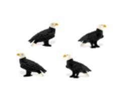 bald eagle mini toy good luck miniature