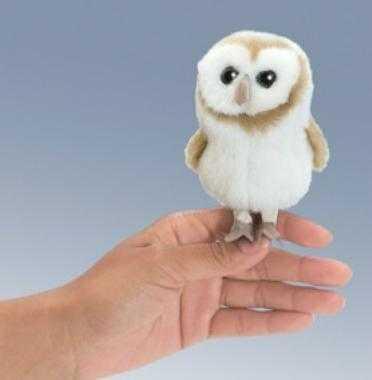 barn owl finger puppet folkmanis