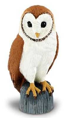 barn owl toy miniature replica