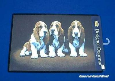basset hound doormat welcome mat